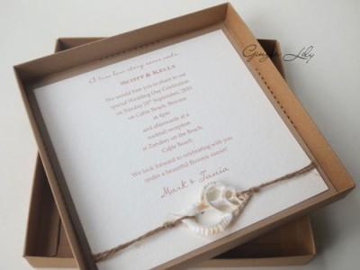 Wedding Invitation DIY Kit ~ Vintage Beach ~ Makes 25 ...