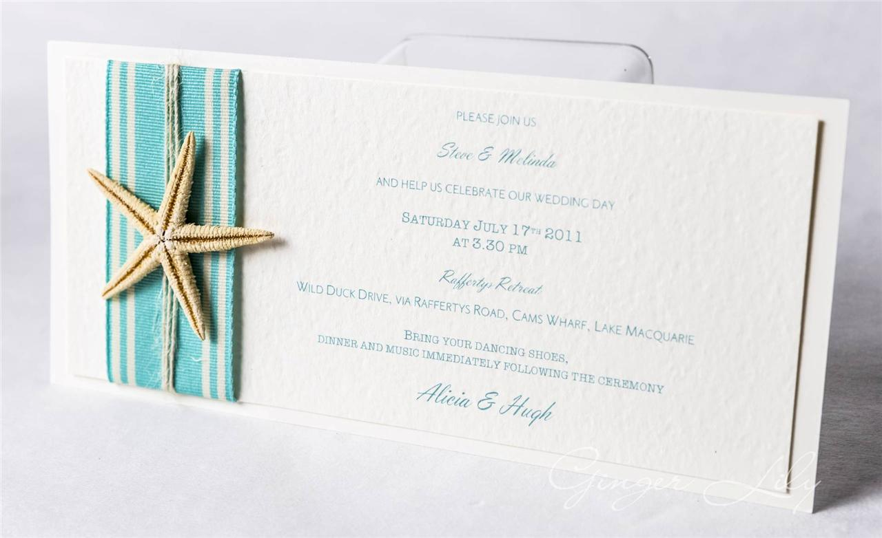 Beach Wedding Invitation DIY Kit ~ Island Starfish DL Invite ~ Makes ...