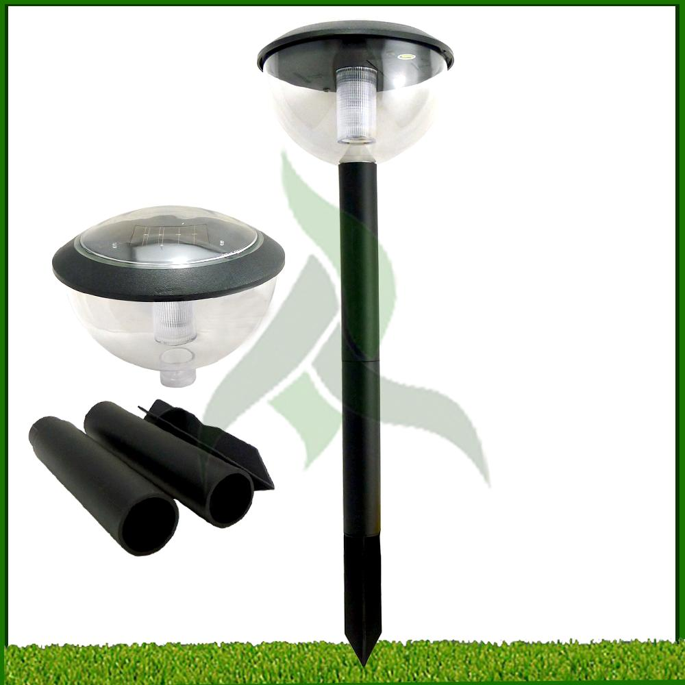 large solar post light white led solar powered outdoor garden driveway