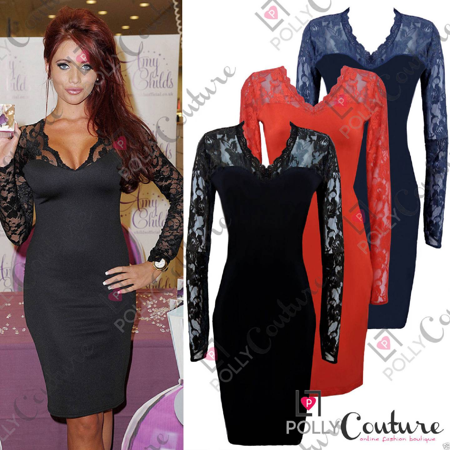 Black lace dress with sleeves uk