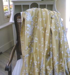 STUNNING X SILK LAURA ASHLEY FRENCH STYLE GOLDSILVER - Laura ashley silk curtains