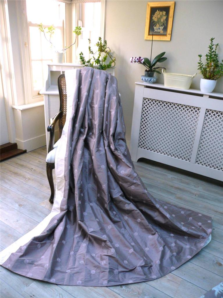 STUNNING X LAURA ASHLEY SILK AMETHYST EMBROIDERED - Laura ashley curtains purple