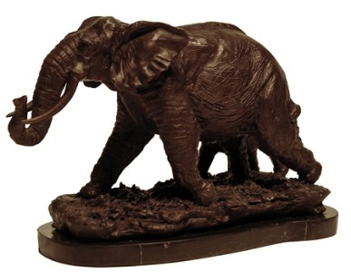 Bronze wildlife safari animal art metal sculpture african African elephant home decor