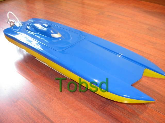 Blue Ghost Catamaran EP Fibreglass RC Racing Boat Ship ARTR