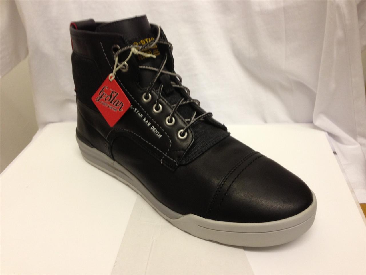 g star gstar raw boulder mantle mens black leather casual boot bnib ebay. Black Bedroom Furniture Sets. Home Design Ideas