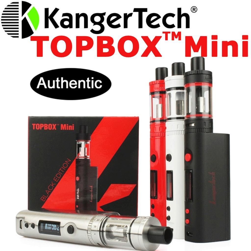 100% Authentic 75W Kangertech Topbox Mini Starter Kit Vape Box Mod Ohm  #4FC902