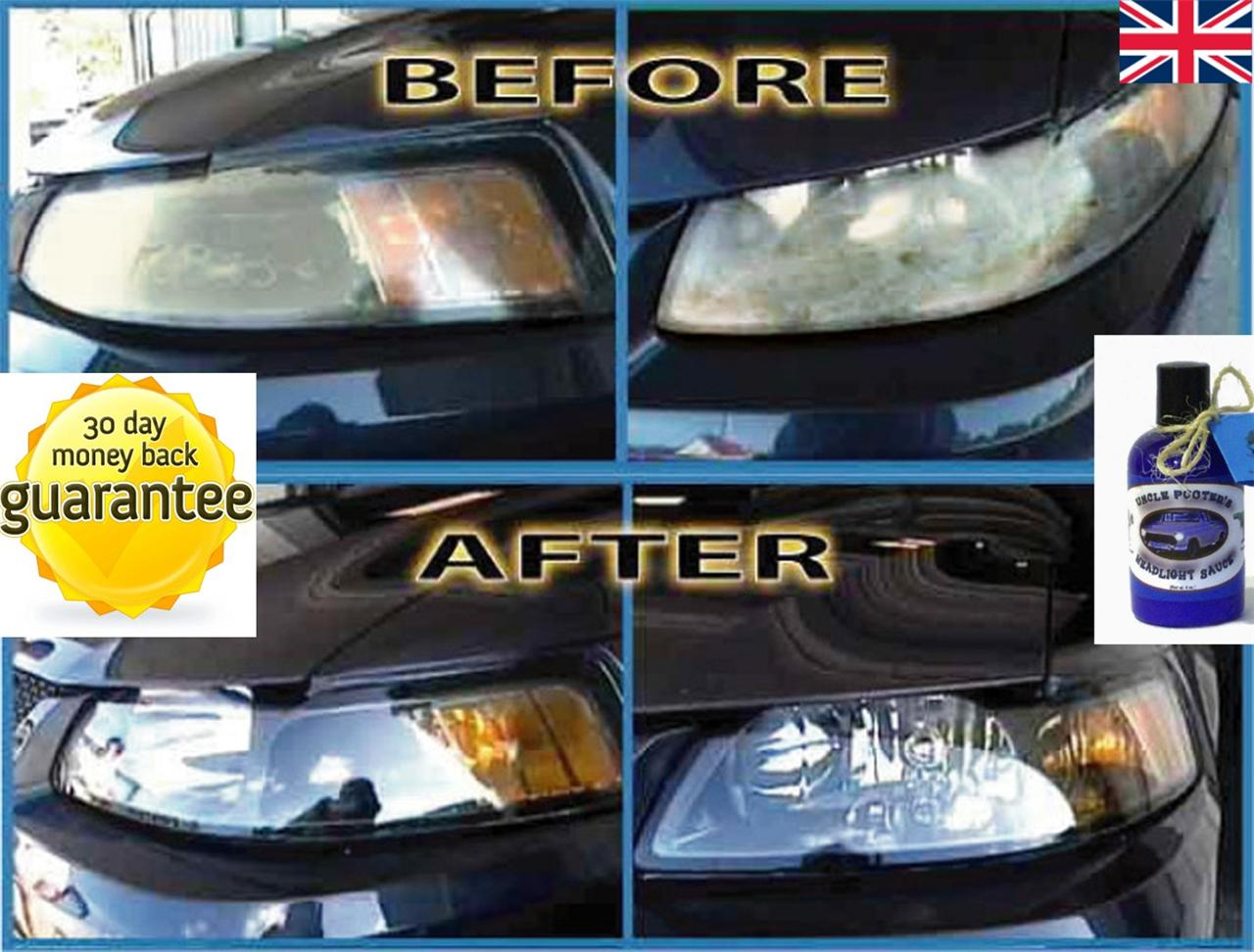 HEADLIGHT-PLASTIC-LENS-RESTORER-REPAIR-POLISH-CLEANER-CAR-VEHICLE-KIT