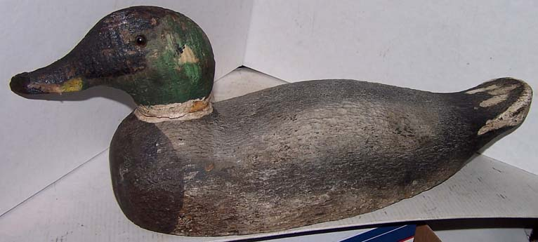 Antique Wood Carved Duck Decoy Glass Eyes Who Made The Ebay