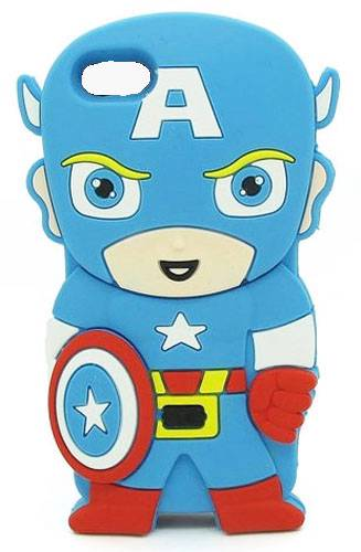 Superhero-Cartoon-Comic-Silicone-Bubble-Case-iPhone-4-4S-Soft-Rubber-Cover
