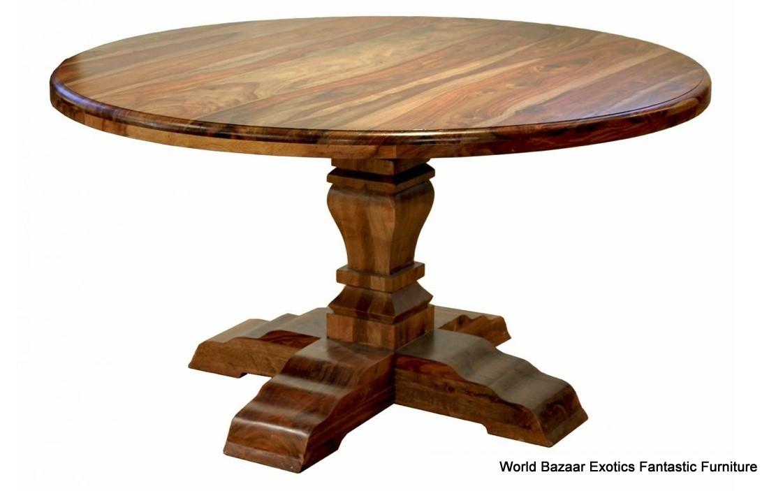 56 round dining table beautiful solid india hardwood medium tone