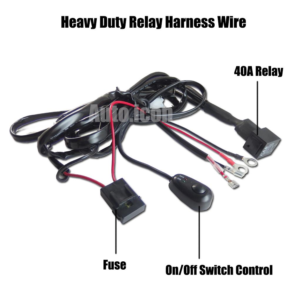 universal heavy duty relay harness wire kit switch for drl hid workl ebay