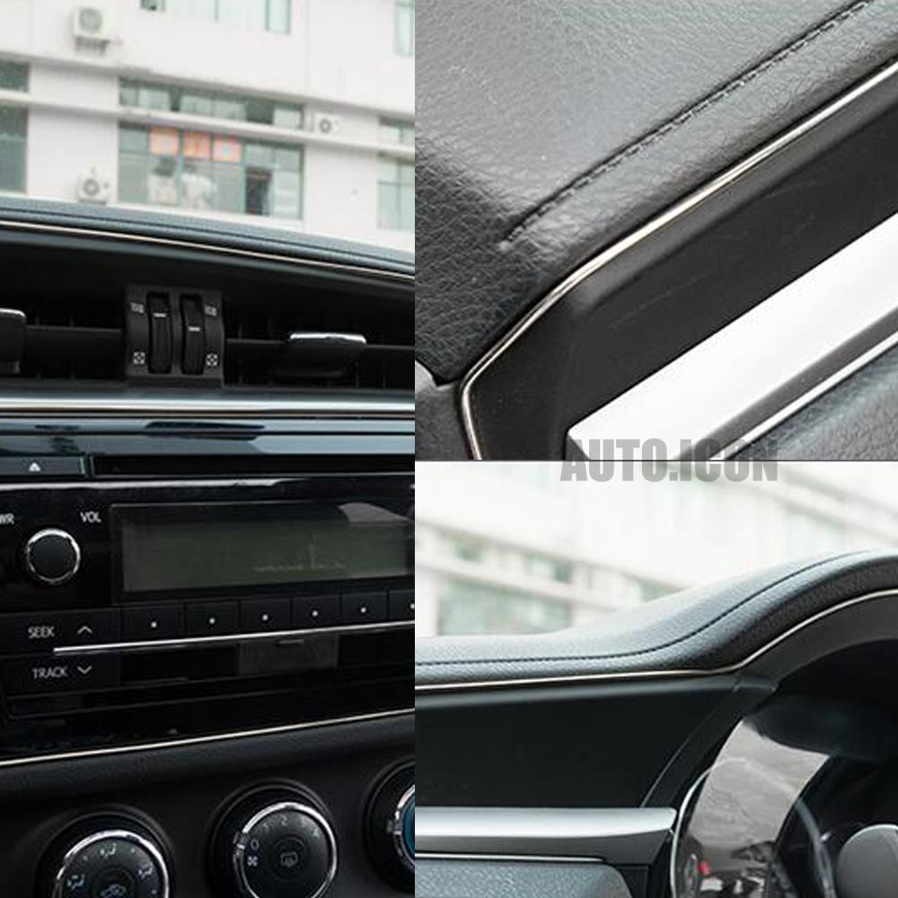 chrome finish 5m car exterior interior moulding tirm decorative flexible strip ebay. Black Bedroom Furniture Sets. Home Design Ideas