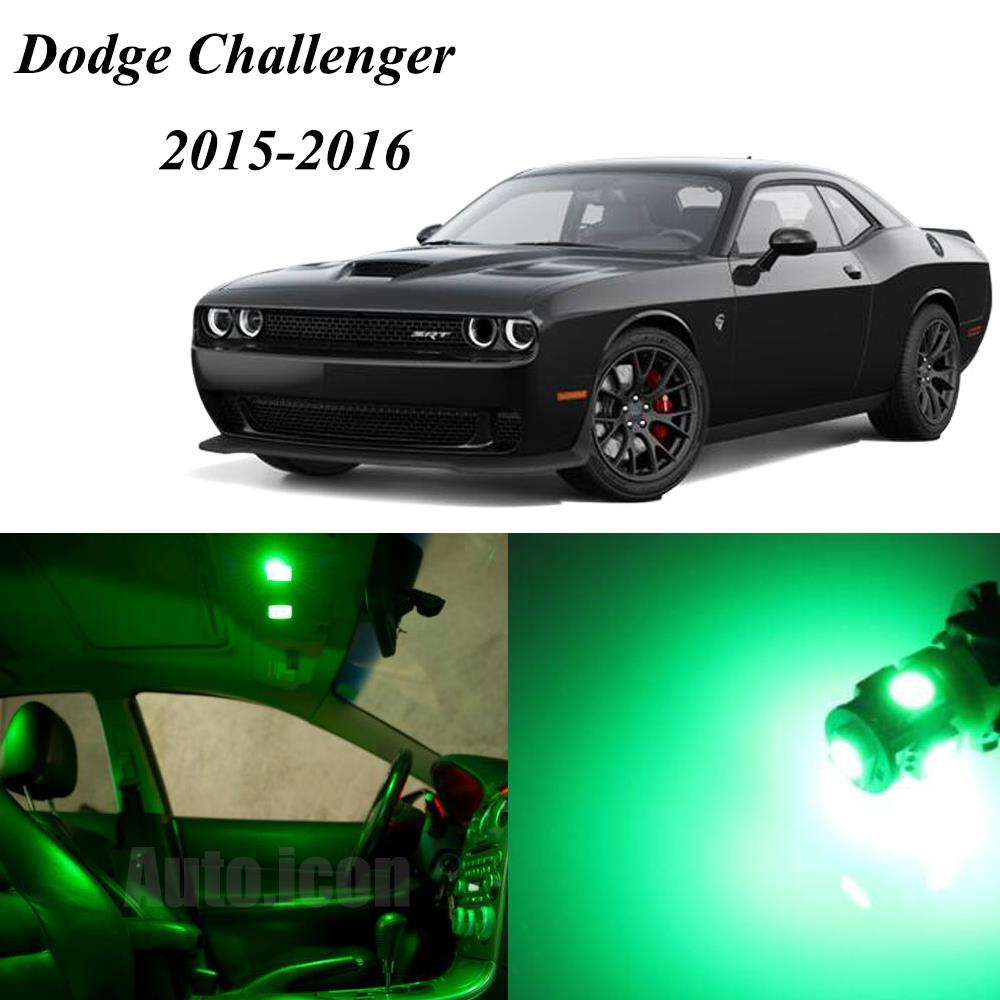 2015 2016 Dodge Challenger Green Led Lights Interior Package W Spare Bulbs Ebay