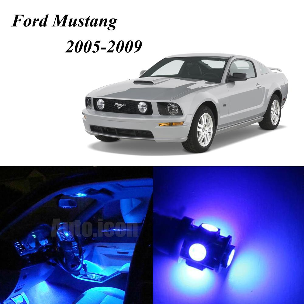 2005 2009 Ford Mustang Blue Led Lights Interior Kit W