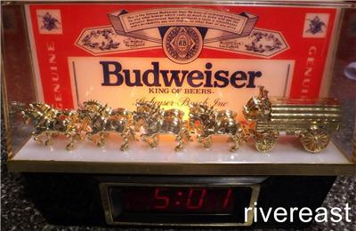Vintage Budweiser Clydesdales Carriage Lighted Display
