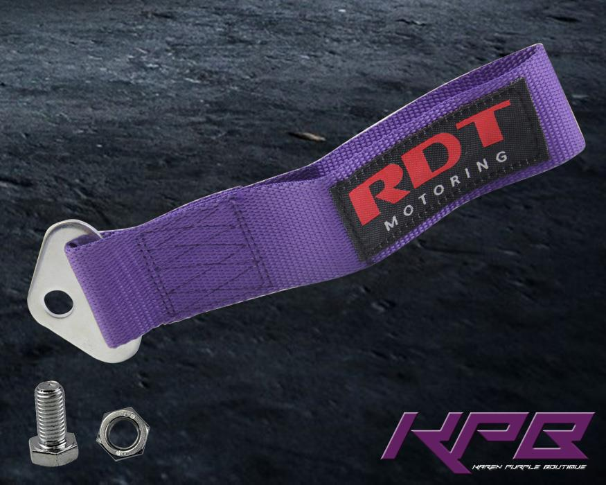 Vehicle Tow Straps : Purple universal vehicle auto racing recovery hook towing