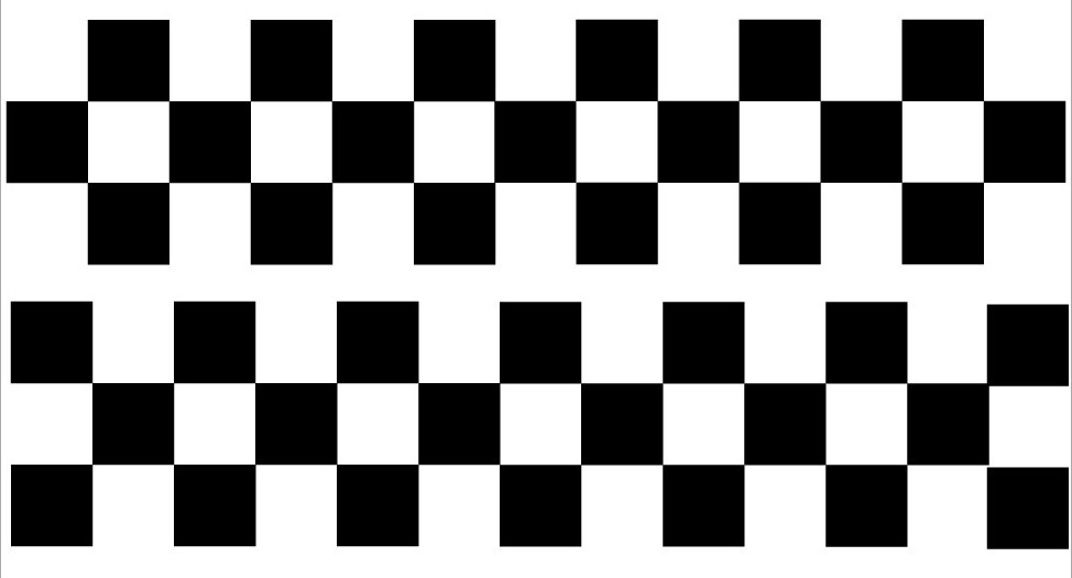 2 X 1m Black Racing Stripes Chequered Pattern 6 Quot Wide