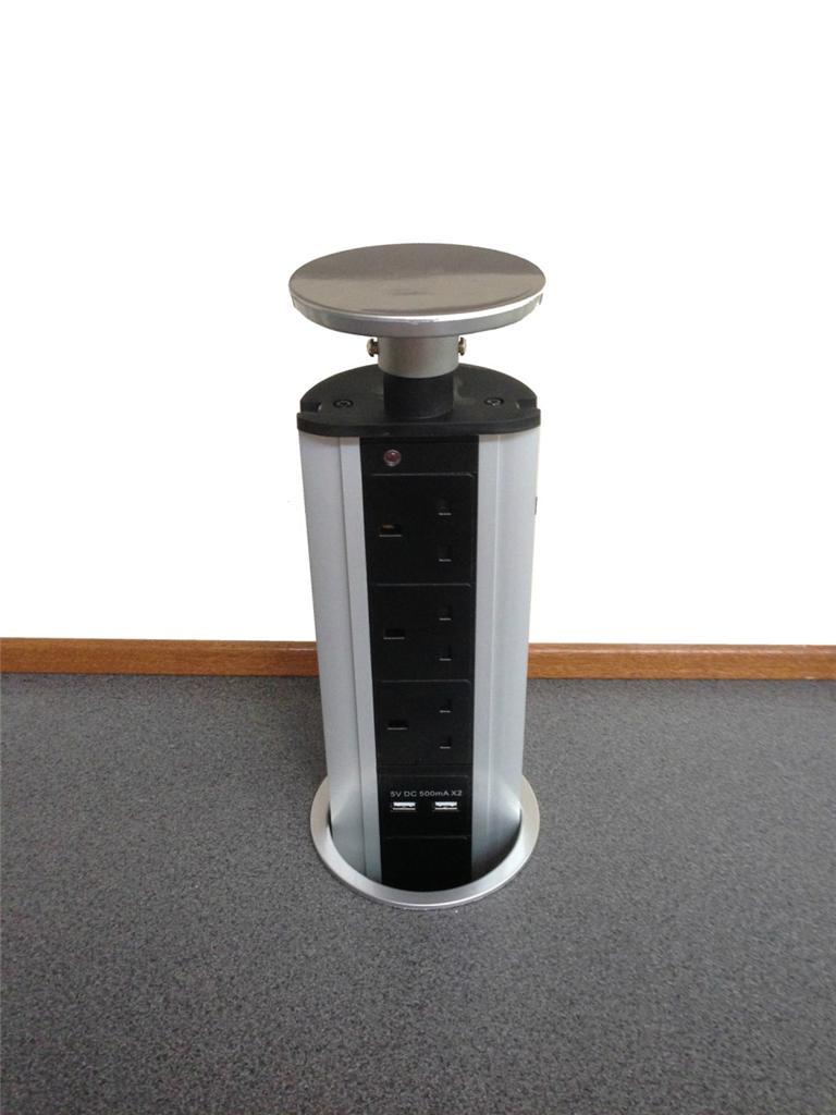 Kitchen Worktop Pop Up Plug Socket Including Usb