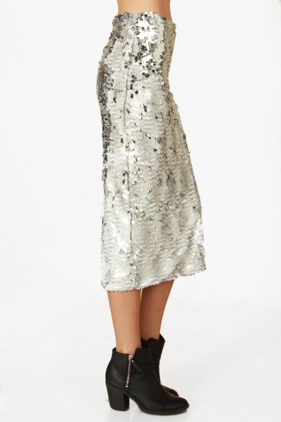 nwt sugarlips mermaid silver sequin pencil skirt ebay