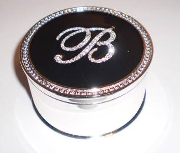 Safekeeper crystal initial jewelry box by lori greiner b for Jewelry box with initials