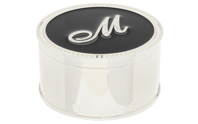 Safekeeper crystal initial jewelry box by lori greiner m for Jewelry box with initials