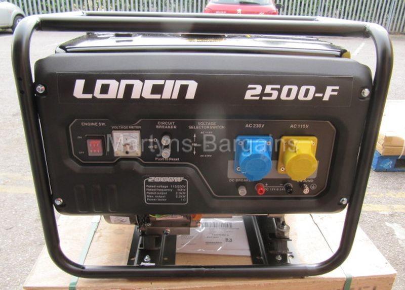 2-KW-Open-Framed-Petrol-Generator-Loncin-LC2500-F-Generator-Loncin-Generator