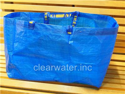 New ikea frakta blue large reusable tote shopping for Ikea beach towels