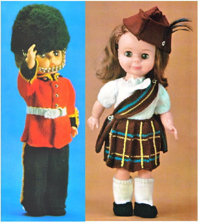 Knitting Patterns For 13 Inch Dolls : Doll Clothes Knitting pattern - 13 inch tall SCOTTISH and ...