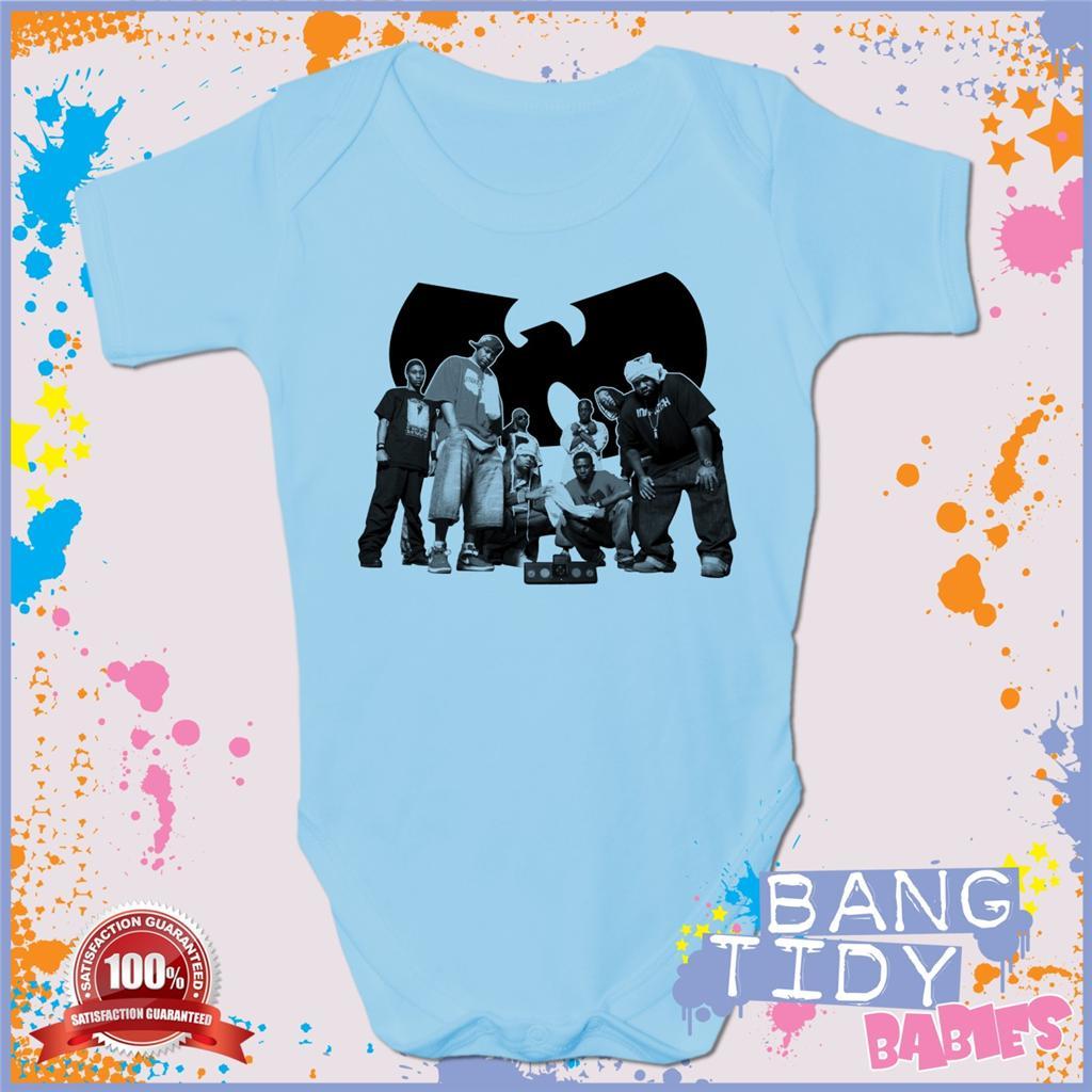 Wu Tang Clan Baby Grow Cool Fun Hip Hop Boy Girl Babies