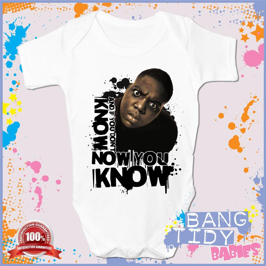 Biggie Smalls Baby Grow Now You Know Hip Hop Boy Girl