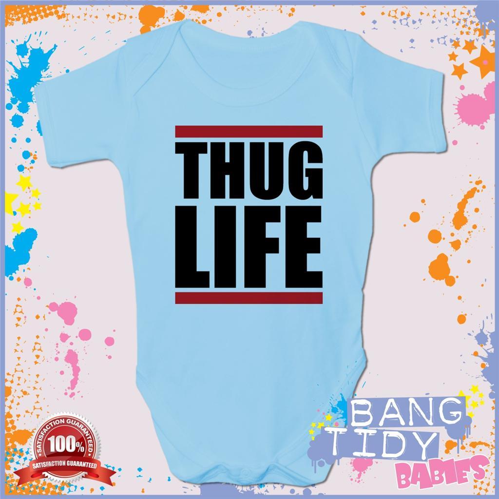 2pac Baby Grow Thug Life Cool Fun Hip Hop Boy Girl Babies