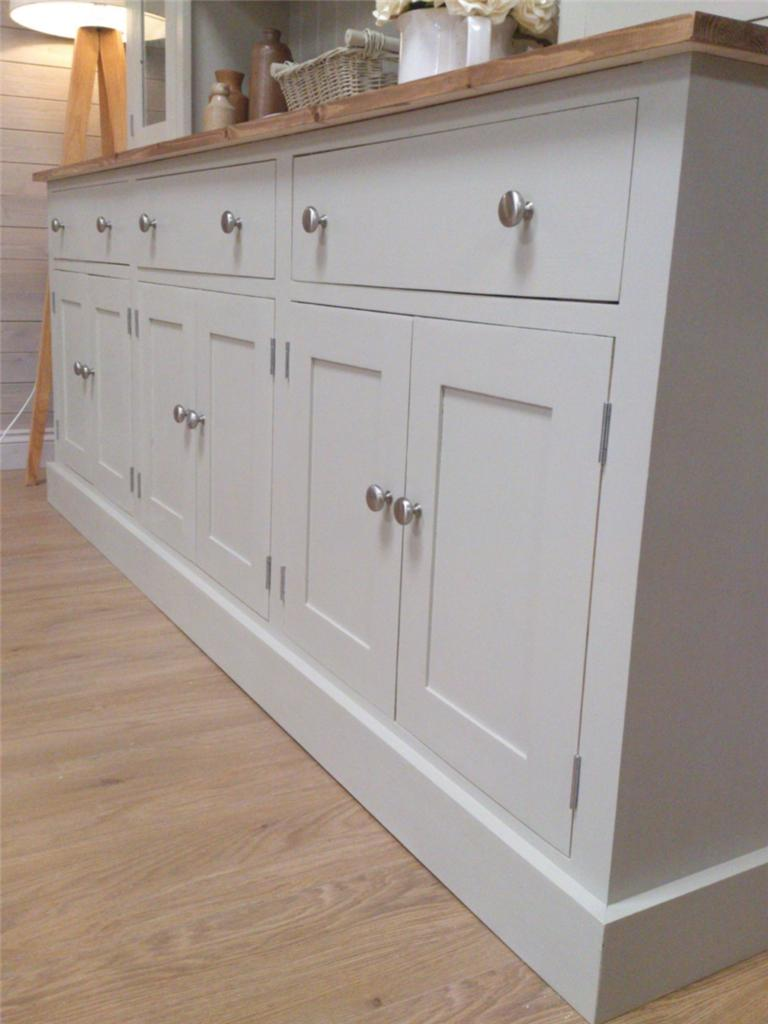 New Huge 7ft Solid Pine Welsh Dresser Kitchen Unit Shabby Chic Painted Furnit
