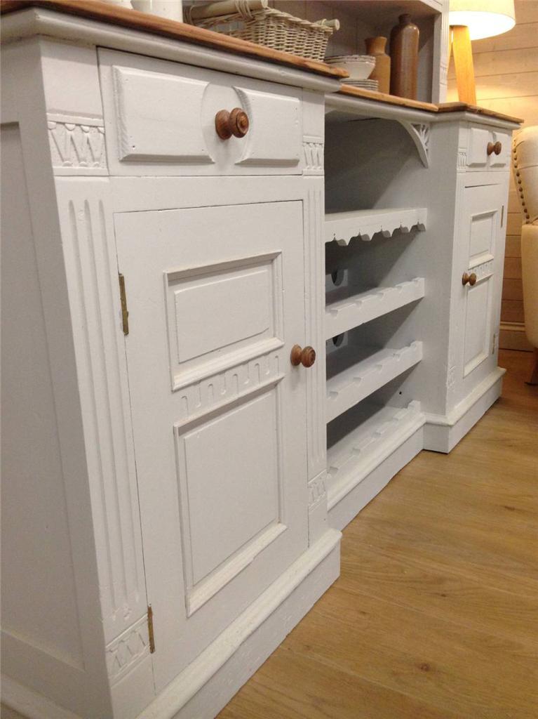 Antique Reclaimed Pine Welsh Dresser Shabby Chic Painted Kitchen Unit Furnitu