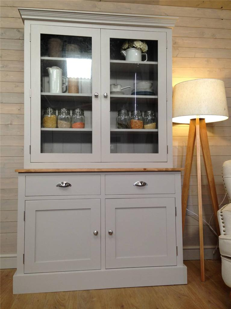 New Solid Pine Welsh Dresser Kitchen Unit Shabby Chic Painted Farrow B
