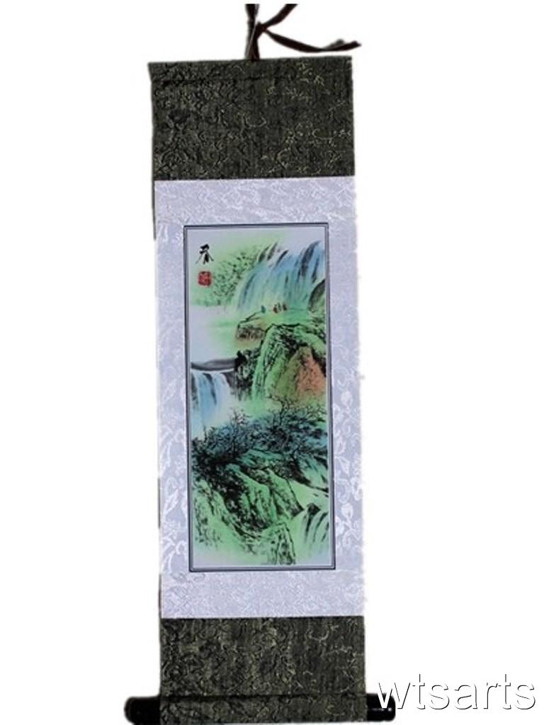 Small-Chinese-Gift-Scroll-Chinese-Painting-Chinese-Landscapes-Prints-on-Cloth