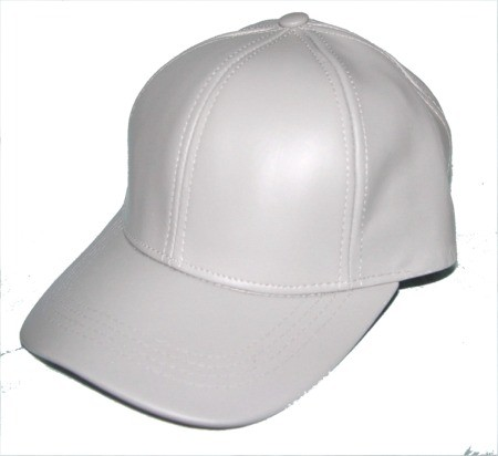 100 leather baseball cap hat unisex 1 size fit all