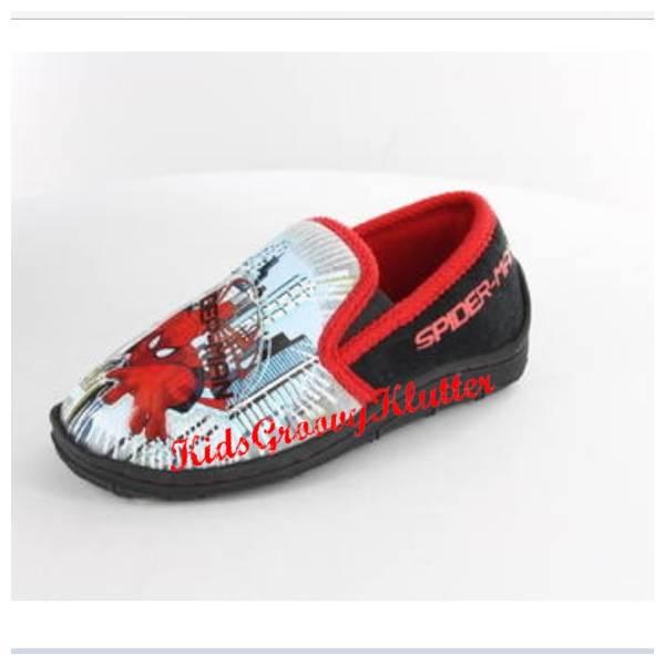 SPIDERMAN-SLIPPERS-Slip-On-BOYS-Super-Hero-Kids-Shoes-SIZE-7-8-9-10-11-12-13-1
