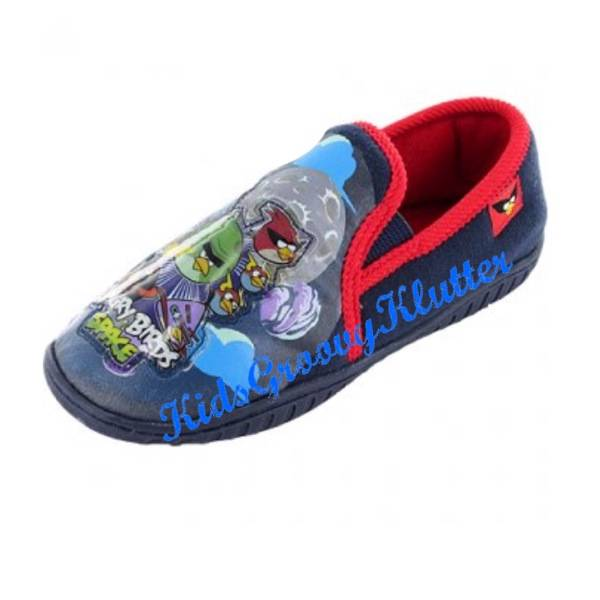 ANGRY-BIRDS-SLIPPERS-Slip-On-BOYS-Kids-Shoes-SIZE-10-11-12-13-1-2