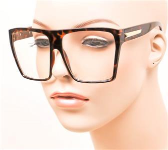 Extra Large Glasses Frame : Extra Large Oversized Rectangular Flat Aviator Geek ...