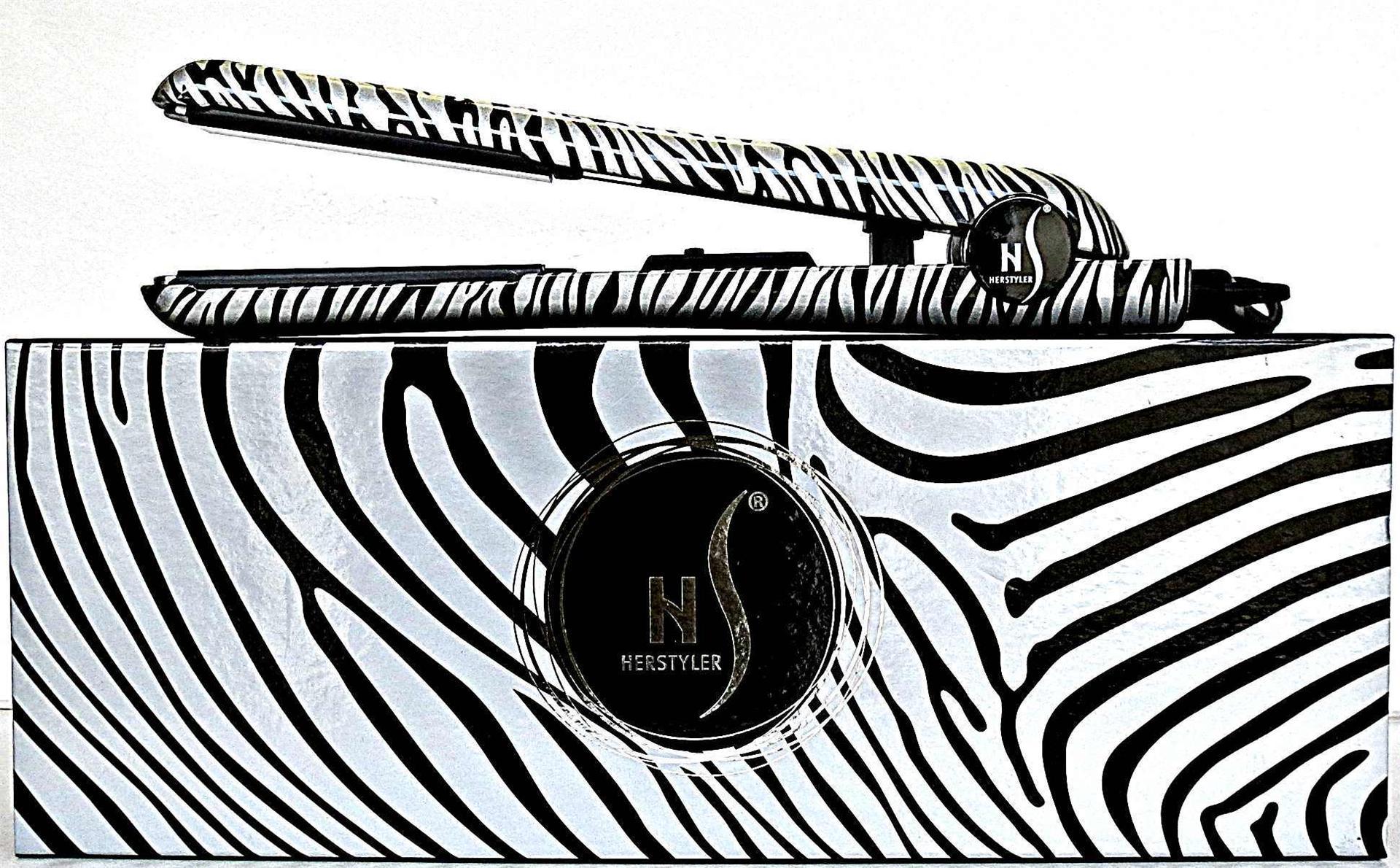 Herstyler ceramic white zebra hair straightener ceramic 1 for Zebra curling wand