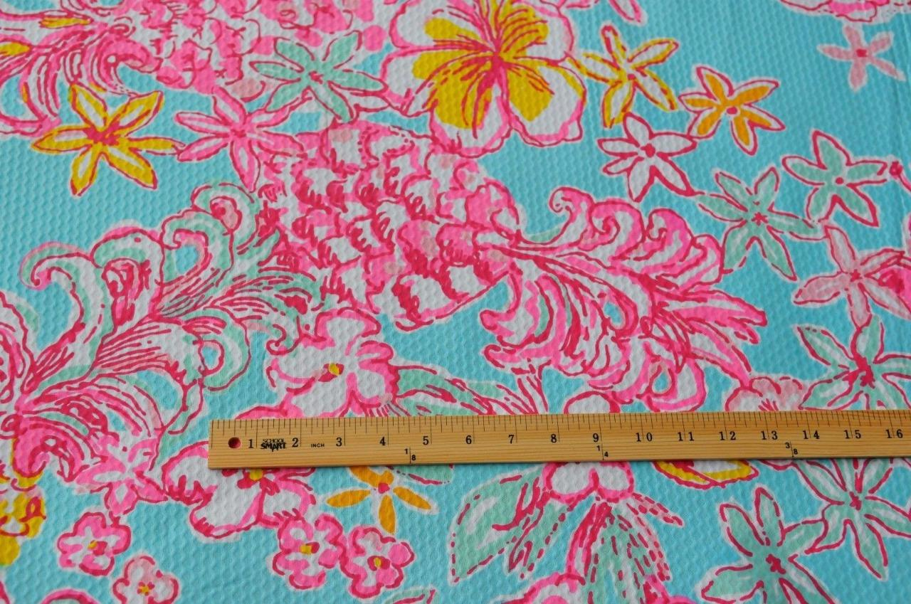 10 yards of lilly pulitzer cotton pique jumbo fabric for A href decoration none