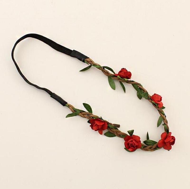 Boho Floral Garland Hairband Women Girls Flower Headband Festival Wedding Party