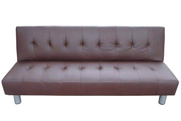 2 In 1 Fold Down Sofa Pu Leather Bed Futon Brown Seat Foam Sprung Suite New 1 Ebay