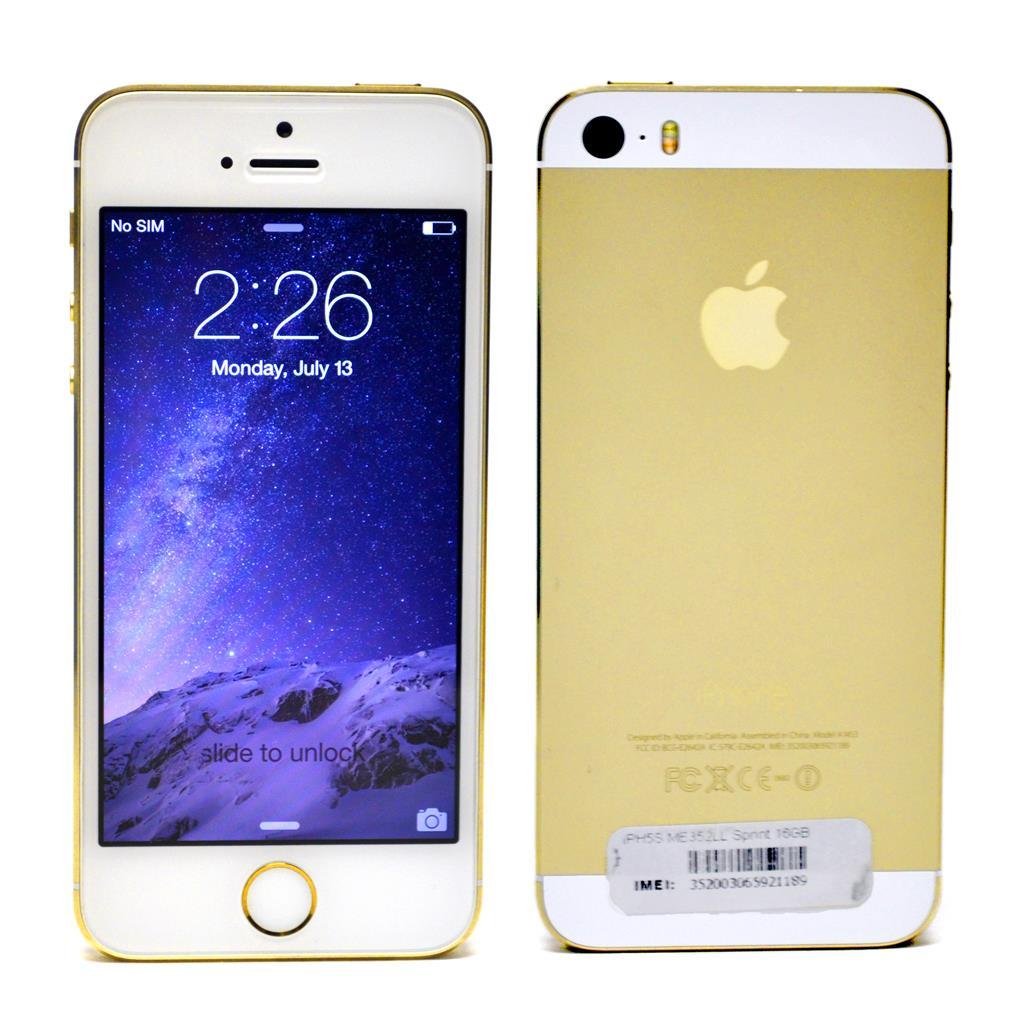 apple iphone 5s 16gb gold sprint ios smartphone a1453 ebay. Black Bedroom Furniture Sets. Home Design Ideas