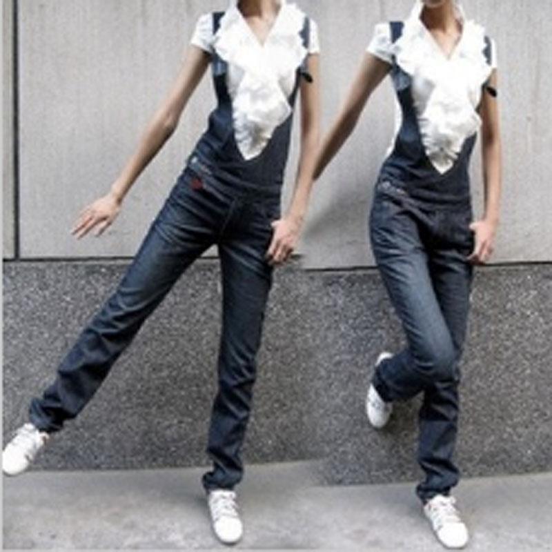 New-Women-Blue-Denim-Jeans-Jumpsuit-Playsuit-Dungarees-Overalls-Pants