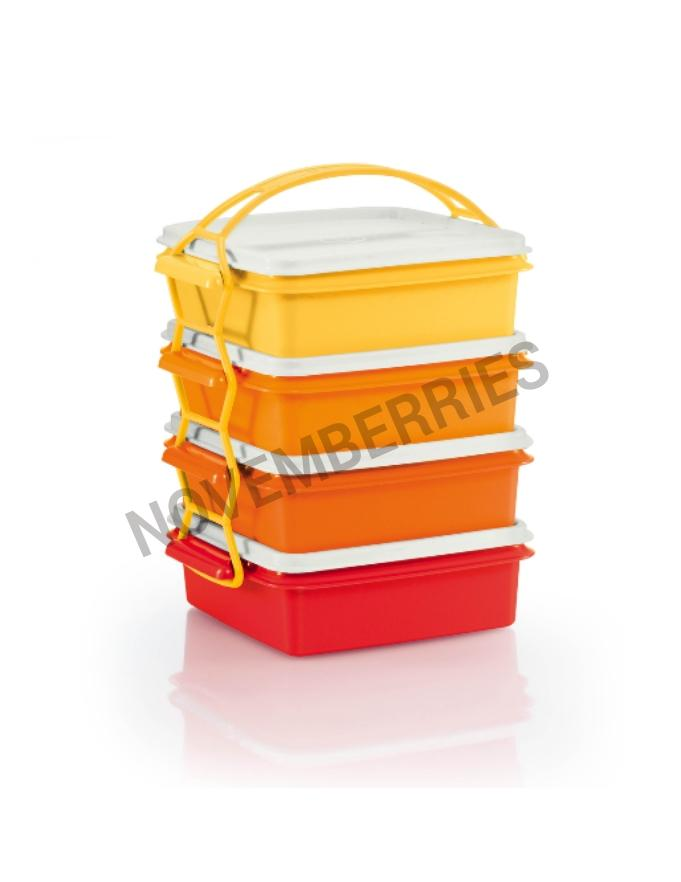 tupperware carry all goody lunch picnic bento box with. Black Bedroom Furniture Sets. Home Design Ideas