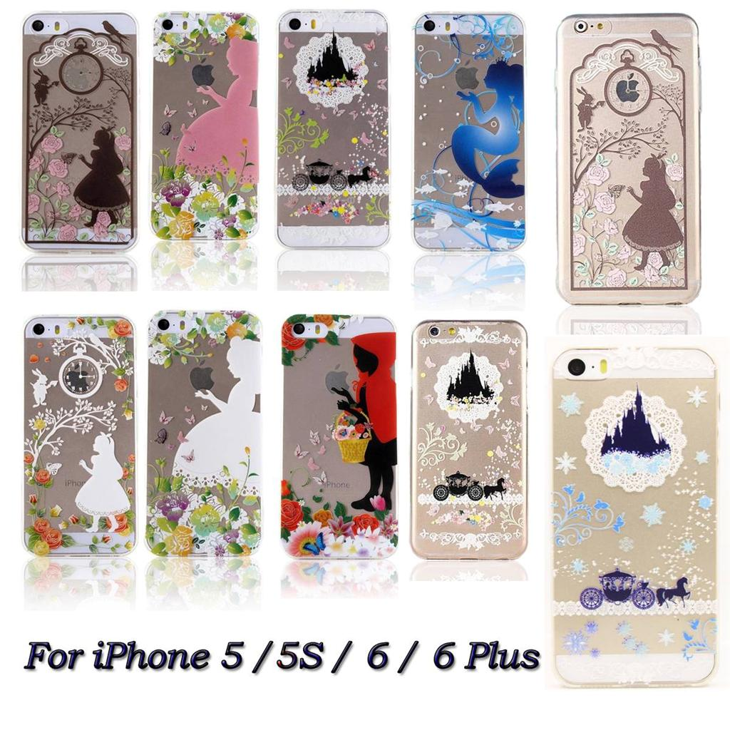 Ultra Thin Disney Princess Clear Soft Rubber Back Case For ...