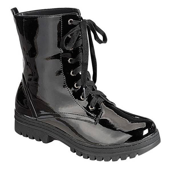 Model Vintage Combat Boots Mens 8 W Or Womens 10 Black Leather