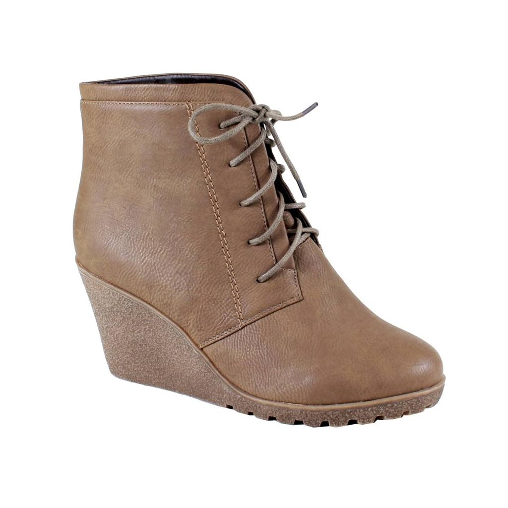 new fashion chukka style lace up platform wedge heel