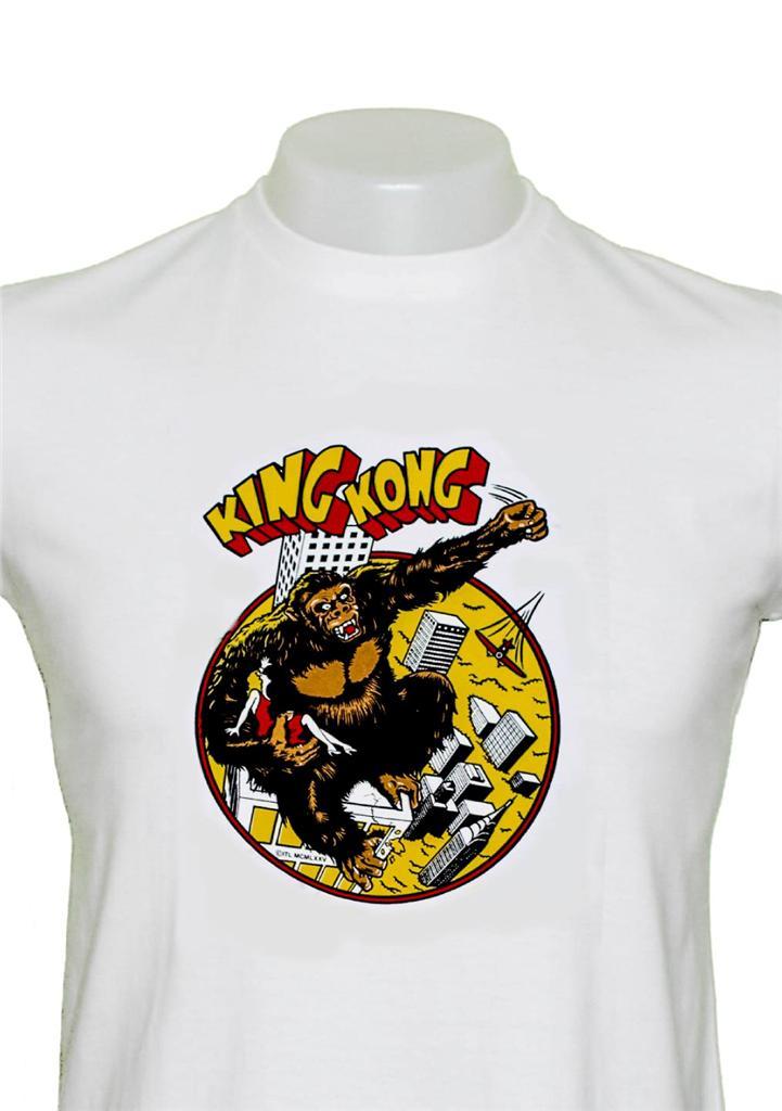 Mens King Kong Movie T Shirt Vintage Design Genuine Retro
